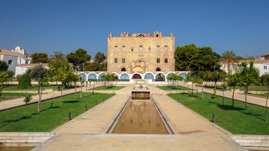 La Zisa in Palermo Sicily, shot of one of the best preserved Norman castles in Italy