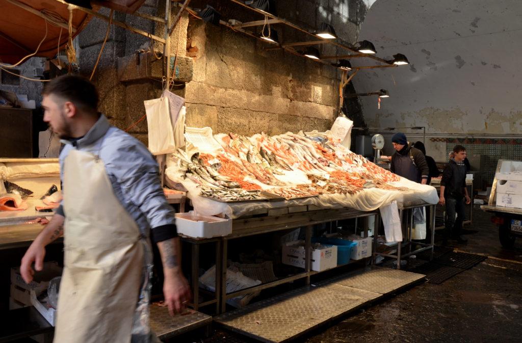 A' Piscaria Mercato del Pesce. Catania fish market, Sicily, Italy. 02-11-2019