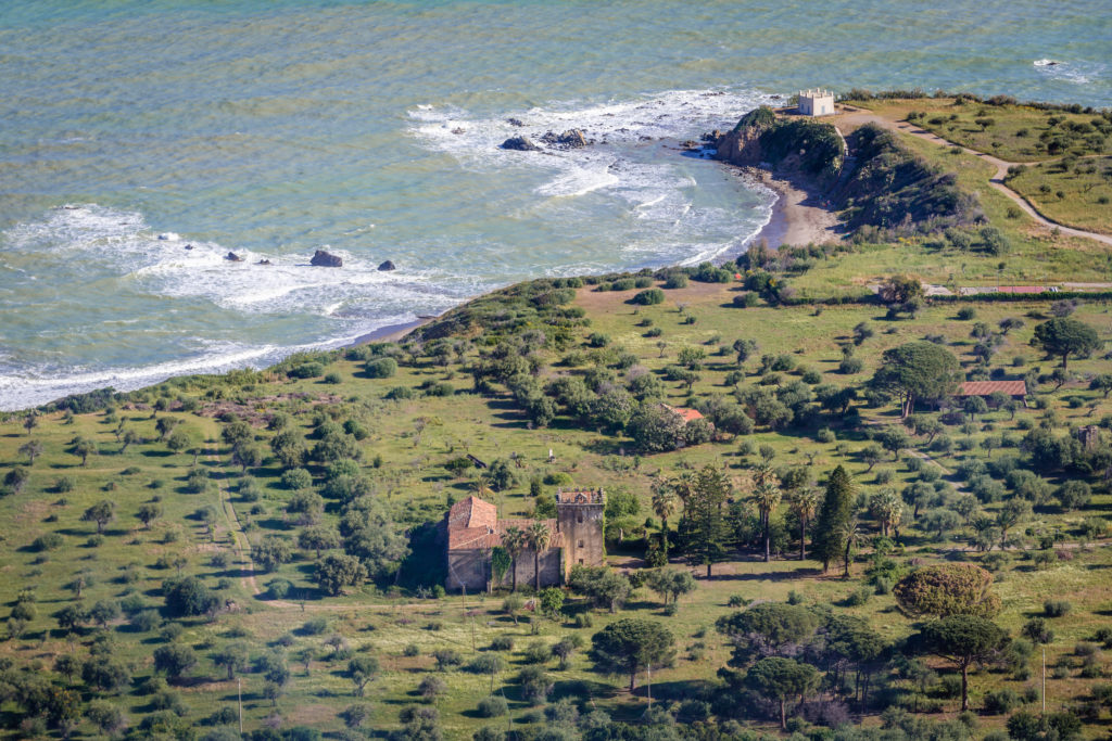 Bordonaro historic mansion in Mazzaforno village located on the Tyrrhenian Sea near Cefalu city on Sicily Island in Italy