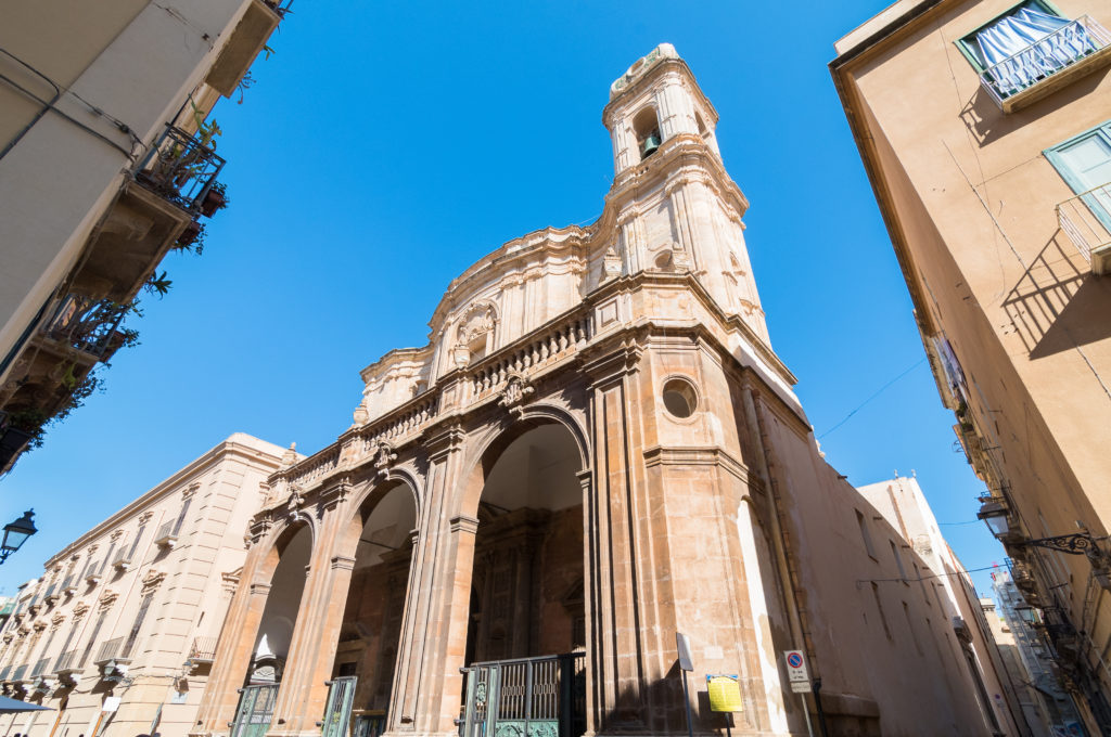 Cattedrale of San Lorenzo in historic center of Trapani, Sicily, Italy.