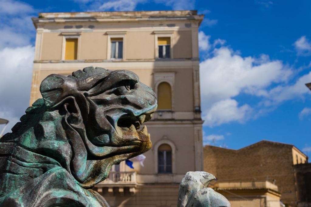 Giuseppe Garibaldi Square Statue, on Caltanissetta, Sicily