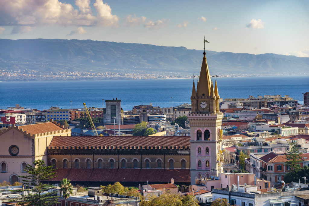 Messina. Sicily.  Church of the Madonna di Montalto. The Basilica is located on the hill Caperino and is visible from almost everywhere