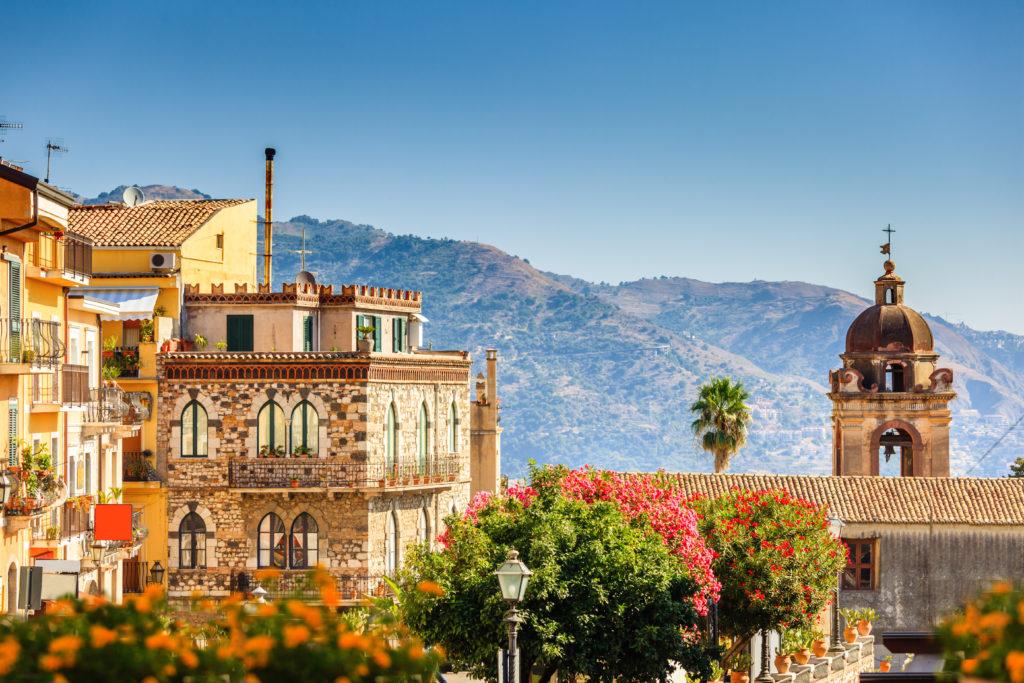 Piękne detale architektury w Sycylii Taormina