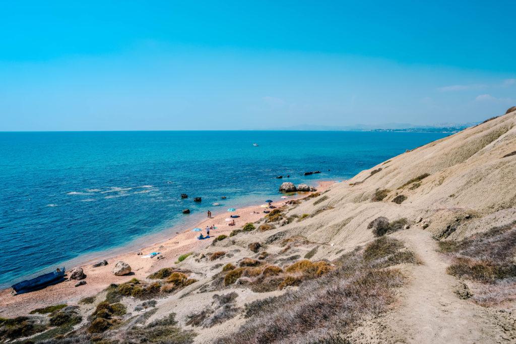 Riserva Naturale di Punta Bianca beach, white Cliffs ,Agrigento, Sicily Italy