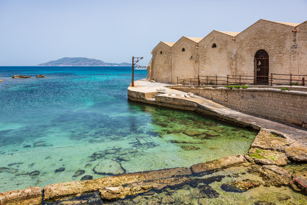 Stabilimento Florio, factory dedicated to the tuna fish, in Favignana, one of the Aegadian Islands, Sicily