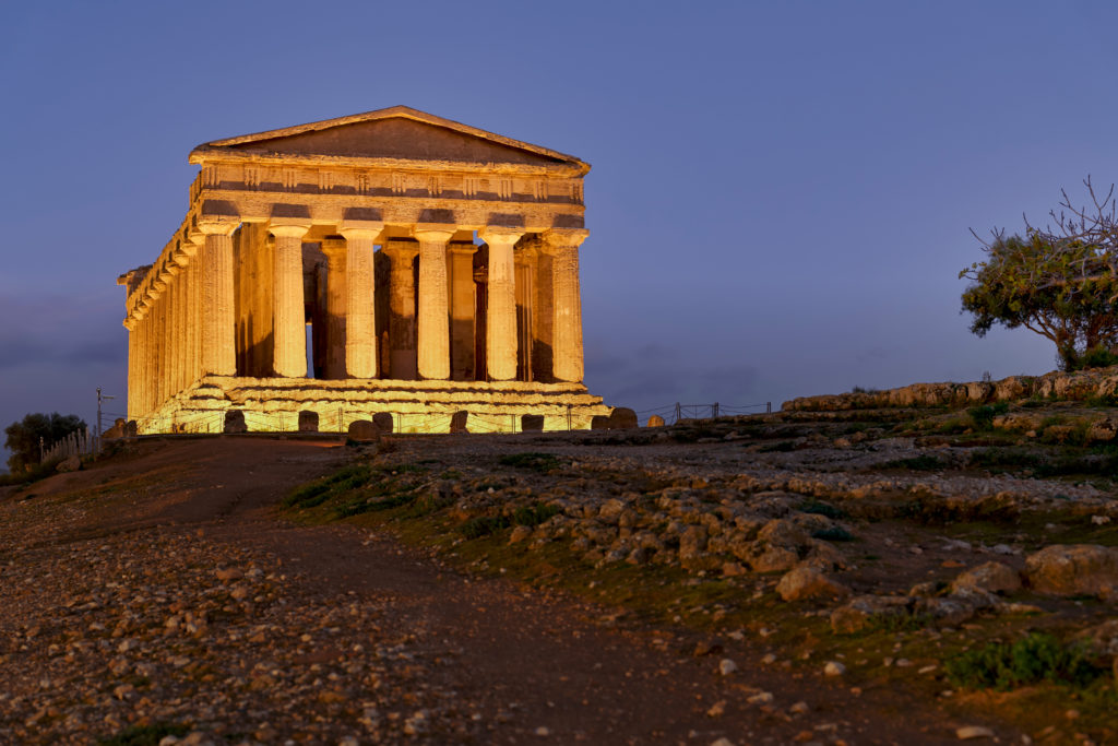 Temple of Concordia (Tempio della Concordia). Valle dei Templi (Valley of the Temples). Agrigento Sicily Italy. Sicily Italy July 2019