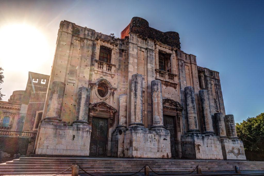 The Church of San Nicolo, Chiesa di San Nicolo l'Arena, Catania, Sicily, ITALY