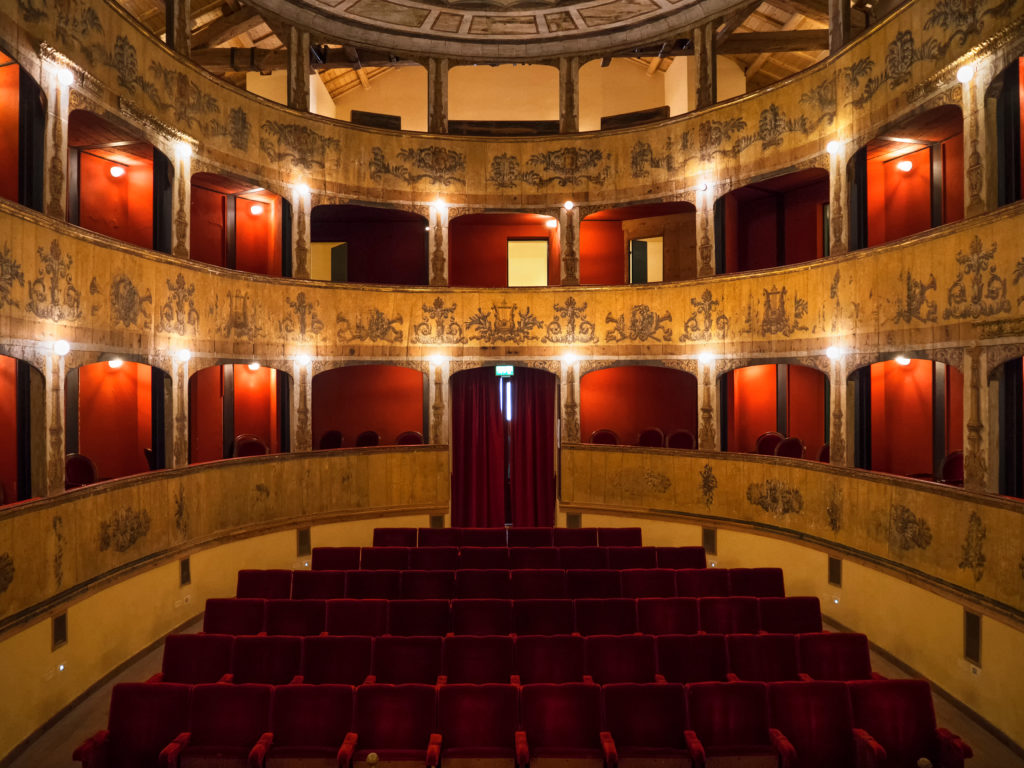 TRAPANI, ITALY - JULY 15, 2017. The Garibaldi Theater in Mazara del Vallo, Sicily, Italy.