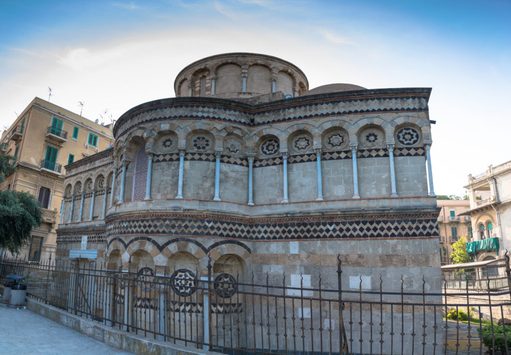 Views of the Church of the Santissima Annunziata dei Catalani, Messina, Sicily, Italy