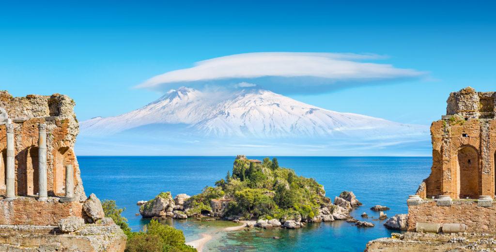 Taormina, Włochy, Katania, Etna