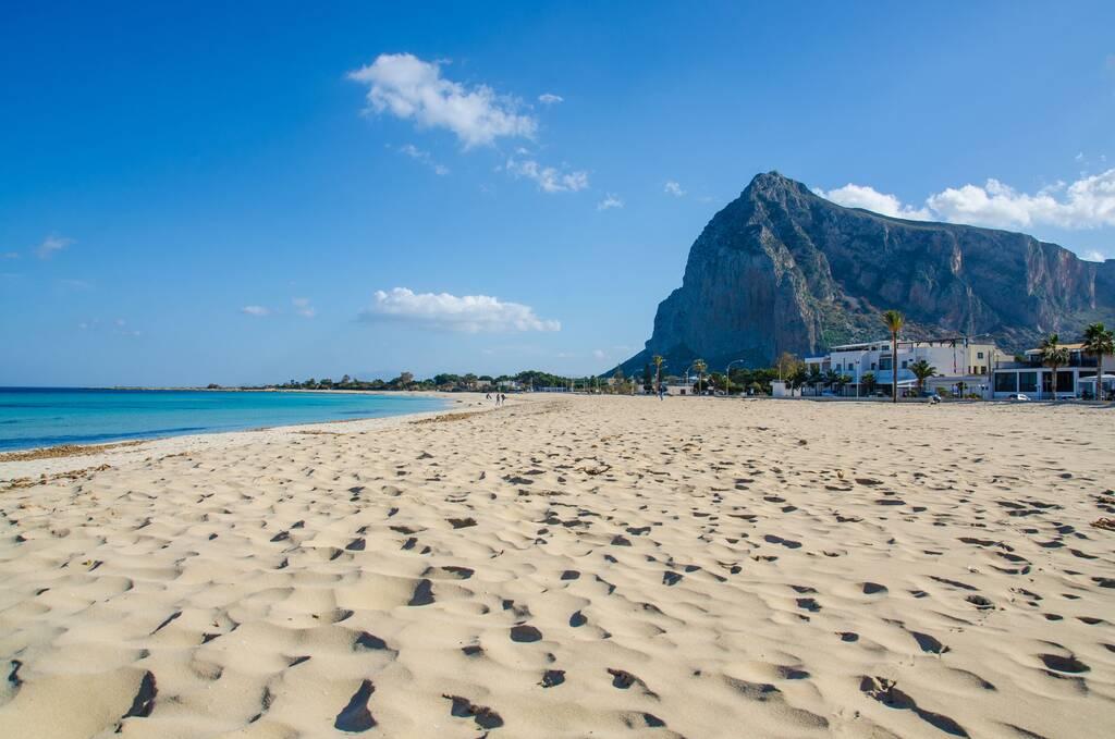 Beach in San Vito lo Capo, Sicily, Italy.